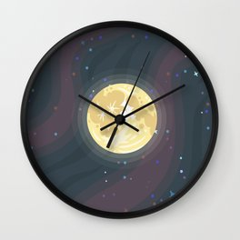 The Moon, Complete With Golfballs Wall Clock