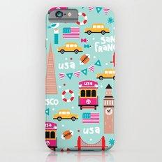 San Francisco travel - Retro style illustration pattern Slim Case iPhone 6