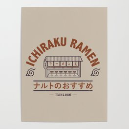 Ichiraku Ramen Japanese Poster