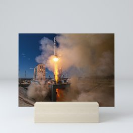 First launch from russian cosmodrome Vostochniy Mini Art Print