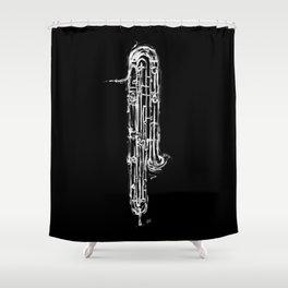 Contrabassoon Shower Curtain