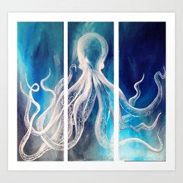 Octopus Tryptic Art Print