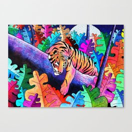 The lazy tiger Canvas Print