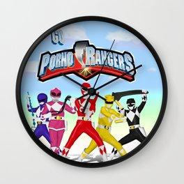 porno rangers Wall Clock