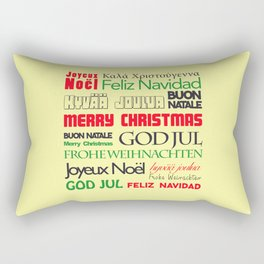merry christmas in different languages I Rectangular Pillow