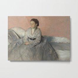 Portrait of Madame René de Gas Metal Print
