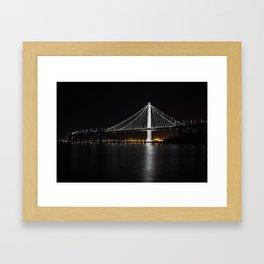 Bay Bridge at Night Framed Art Print