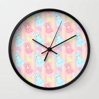 macaron Wall Clocks featuring Bubblegum Macaron!! by himehorse