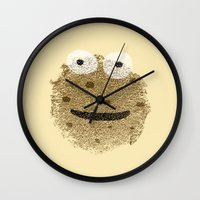 cookie monster Wall Clocks featuring Cookie Monster by Sarinya  Withaya
