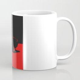 MGB, Red on Black Coffee Mug