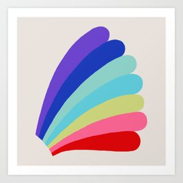 Rainbow Bomber Art Print
