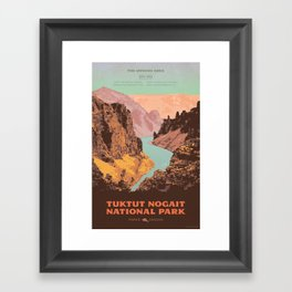 Tuktut Nogait National Park Framed Art Print