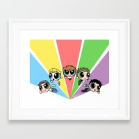 cyrilliart Framed Art Prints featuring Powerpuff!Direction by Cyrilliart