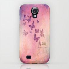 Fly Away Butterfly Galaxy S4 Slim Case
