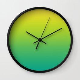 Meadowlark, Lime Punch, Arcadia Blurred Minimal Gradient | Pantone colors of the year 2018 Wall Clock