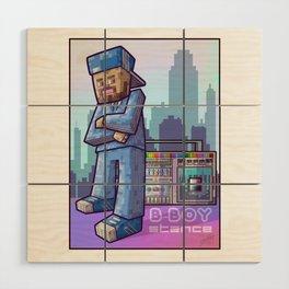 BBoy Stance Wood Wall Art