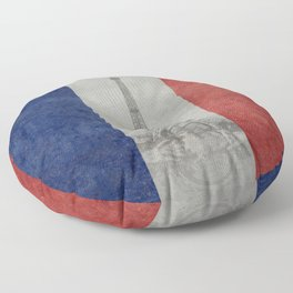 Eiffel tower with French flag Floor Pillow