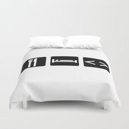 Eat, Sleep, Code Duvet Cover