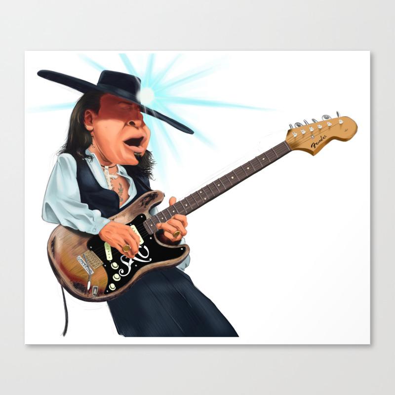 Stevie Ray Vaughan Canvas Print by Johnmichaeldezinz CNV8256772