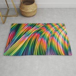 Strain Wave III. Tie-Dye Rug