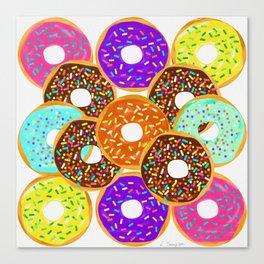Doughnut Disturb Me When I'm Eating Canvas Print