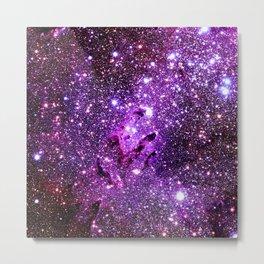 Purple Galaxy Eagle Nebula Metal Print