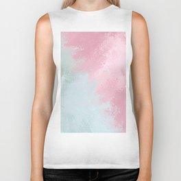Modern abstract pink teal watercolor pattern Biker Tank