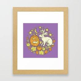 Halloween Friends | Spooky Brights Palette Framed Art Print