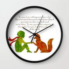 Little Prince Quote Wall Clock