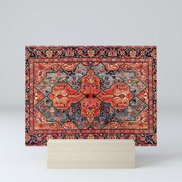 Kashan Poshti Central Persian Rug Print Mini Art Print
