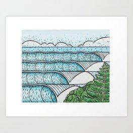Coolangatta Lines Art Print