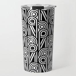 Art Deco Black and White Travel Mug