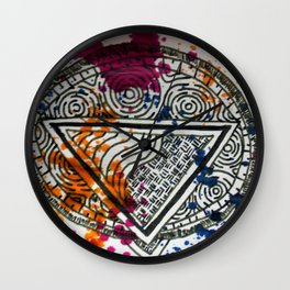 Splotchy Medallion Wall Clock