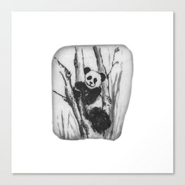 Panda Bear in a tree by annmariescreations Canvas Print