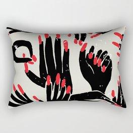 hands, fingers, nails & fingernails Rectangular Pillow