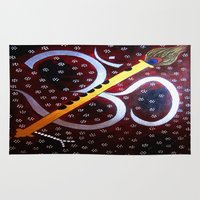 om Area & Throw Rugs featuring Om by Priyanka Rastogi