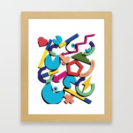 Quantified self Framed Art Print