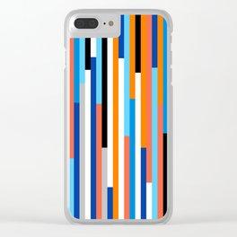 Modern Stripe Clear iPhone Case