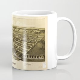 Aerial View of Glassport, Pennsylvania (1902) Coffee Mug