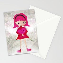 Pink angel - L'ange rose Stationery Cards