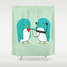 The sound of love Shower Curtain
