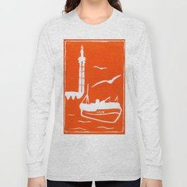 Home in Orange Long Sleeve T-shirt