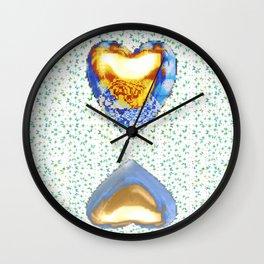 Tiger Heart Digital Collage Wall Clock