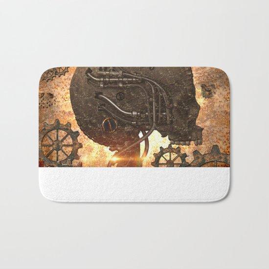 Steampunk, skull Bath Mat