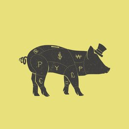 Pillow Sham - Piggy Bank - Tobe Fonseca