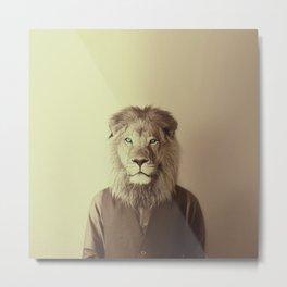 Mr. Lion Metal Print