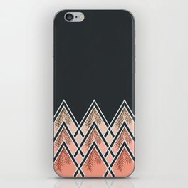 Pink Déco Mountains #society6 #buyart iPhone Skin