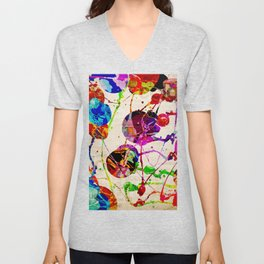 Abstract Expressionism 2 Unisex V-Neck