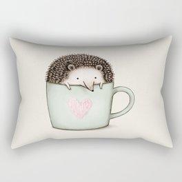 Hedgehog in a Mug Rectangular Pillow