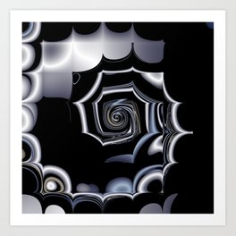 TGS Fractal Abstract in Winter Art Print